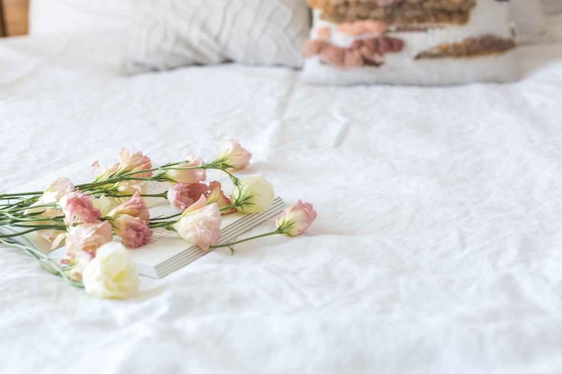 beautiful bed bedroom book